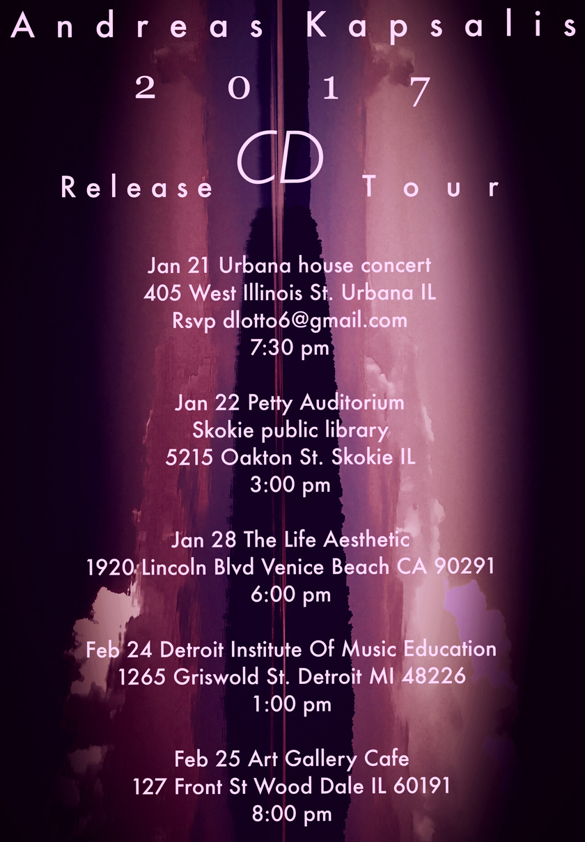 CD Release Tour - Jan. 21 - Feb. 25, 2017
