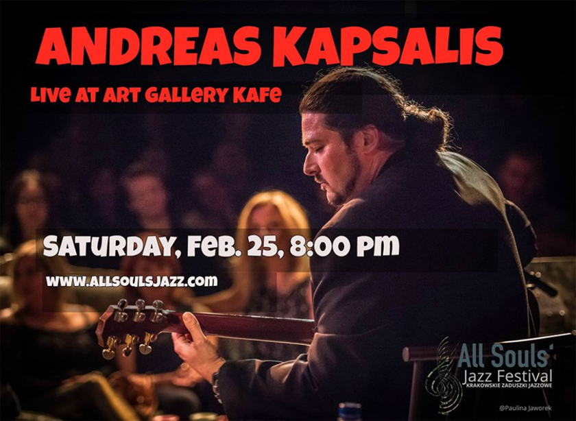Feb 25, 2017 - Andreas Kapsalis at Art Gallery Kafe, Wood Dale, IL - 8 pm
