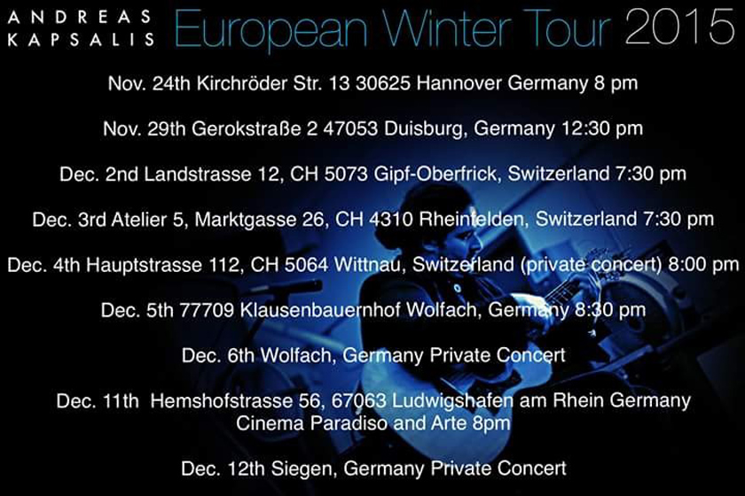 European Winter Tour 2015
